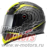 "Шлем LS2 FF358 WARDOTS черно-желтый(black,hi-vis,yellow)""M"""