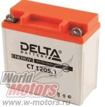 Аккумулятор 12В 5Ач DELTA CT1205.1 (12N5-3B) (кислотный, герметичный) (обр.полярн.) (119*60*129мм)